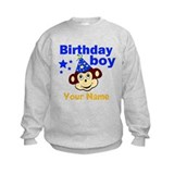 Birthday boy monkey custom Jumpers