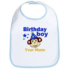 Birthday boy monkey custom Bib