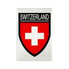 Switzerland Flag Patch Rectangle Magnet (100 pack)