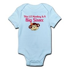Big Sister Monkey Infant Bodysuit