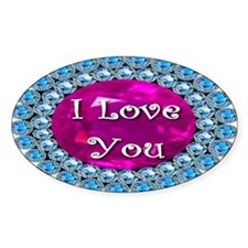 I Love You Diamonds Decal