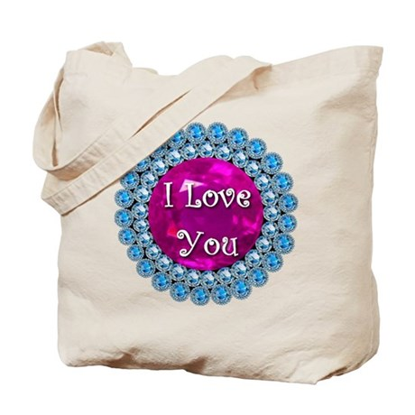 I Love You Diamonds Tote Bag