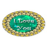 I Love You Birthstones Decal
