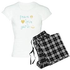 Peace, Love and garlic Pajamas