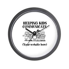 Helping Kids Communicate Wall Clock