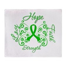 Kidney Disease Hope Faith Deco Throw Blanket