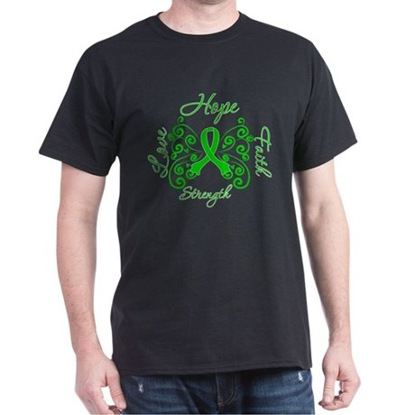 Kidney Disease Hope Faith Deco Dark T-Shirt
