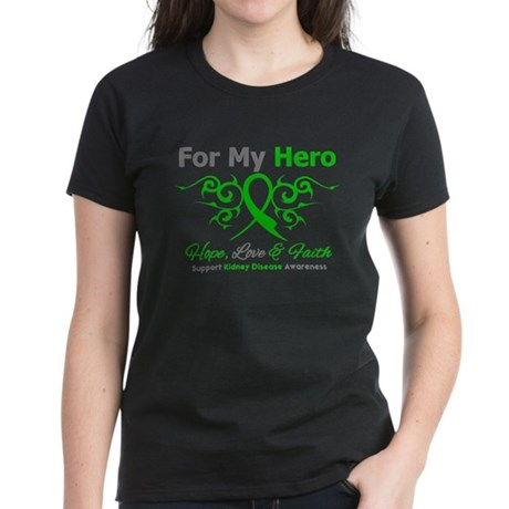 Kidney Disease For My Hero Women's Dark T-Shirt