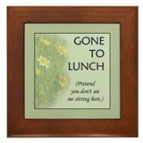 Gone to Lunch Framed Tile