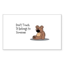 Cute Personalize bear Decal