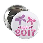 """2017 Girls Graduation 2.25"""" Button"""