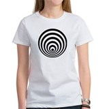 Women's T-shirt with crop circle