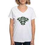 Green Man Women's V-Neck T-Shirt