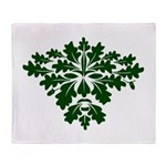Green Man Throw Blanket