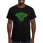 Green Man Men's Fitted T-Shirt (dark)