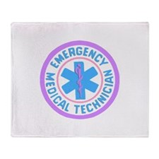 EMT Logo Pastel Throw Blanket