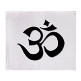 Om Throw Blanket