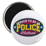 Proud to be a Police Husband Magnet