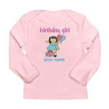 Birthday girl custom Long Sleeve Infant T-Shirt