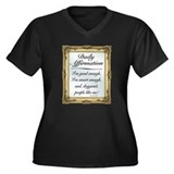SNL: Affirmation Women's Plus Size V-Neck Dark T-S