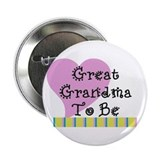 "Great Grandma To Be Stripes 2.25"" Button"