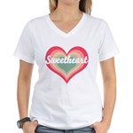 Sweetheart Women's V-Neck T-Shirt