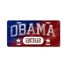 Obama 2012 Aluminum License Plate