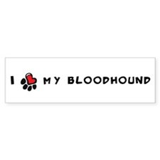 I *heart* My Bloodhound Bumper Sticker