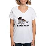 Saint Bernard Women's V-Neck T-Shirt