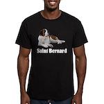 Saint Bernard Men's Fitted T-Shirt (dark)