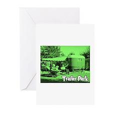 Trailer Park Green Vintage Greeting Cards (Package
