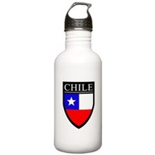 Chile Flag Patch Water Bottle