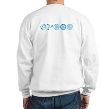 Sweatshirt with crop circle