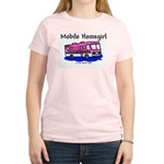 Mobile Home Girl Women's Pink T-Shirt