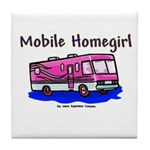 Mobile Home Girl Tile Coaster