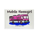 Mobile Home Girl Rectangle Magnet (100 pack)