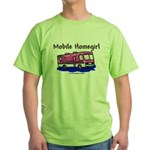 Mobile Home Girl Green T-Shirt