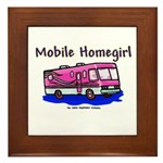 Mobile Home Girl Framed Tile