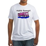 Mobile Home Girl Fitted T-Shirt
