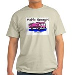 Mobile Home Girl Ash Grey T-Shirt