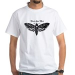 Death's Head Moth White T-Shirt