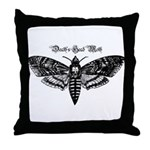 Death's Head Moth Throw Pillow