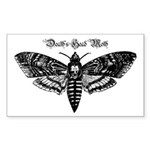Death's Head Moth Sticker (Rectangle 10 pk)