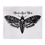Death's Head Moth Throw Blanket