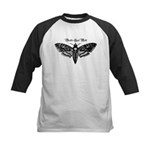 Death's Head Moth Kids Baseball Jersey