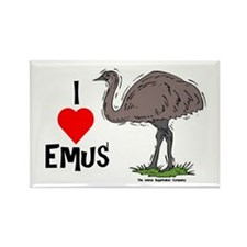 I Love Emus Rectangle Magnet