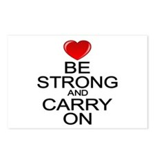 Be Strong Carry On Postcards (Package of 8)