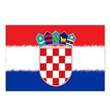 Croatian Flag Postcards (Package of 8)