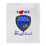 Police Boyfriend Throw Blanket