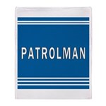 Patrolman Blues Throw Blanket